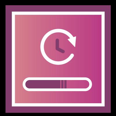 Update-Icon mit Ladebalken und Uhr für das Aktualisieren von Content beim Content Audit